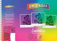 Smirnoff Vodka Love Wins Limited Edition 1L