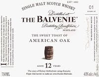 The Balvenie Scotch Single Malt 12 Year The Sweet Toast Of American Oak 750ml