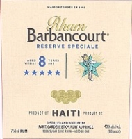 Rhum Barbancourt Rum Reserve Speciale 8 Year 5 Star 750ml