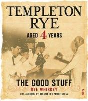 Templeton Rye Rye Whiskey 4 Year The Good Stuff 375ml