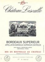 Chateau Lescalle Bordeaux Superieur 750ml