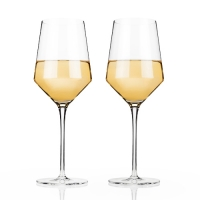Angled Crystal Chardonnay Glasses by Viski