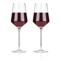 Angled Crystal Bordeaux Glasses by Viski
