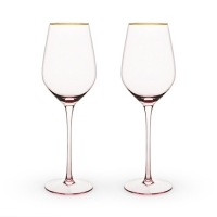 Rose Crystal White Wine Glass Set by Twine