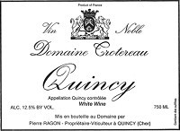Domaine Trotereau Quincy 750ml