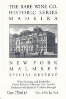 Rare Wine Madeira Malmsey Historic Series New York 750ml