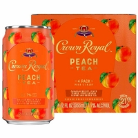 Crown Royal Peach Tea Ready To Drink Cocktail 4-Pack 12oz Cans