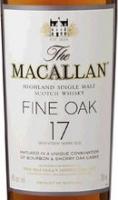 Macallan 17 Year Old Fine Oak Single Malt Scotch 750ml Rated 96-100WE
