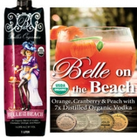 Belles Organics Belle on the Beach Cranberry, Orange, Peach and Vodka 1L