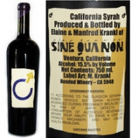 Sine Qua Non Male California Syrah 2013 Rated 97-99WA