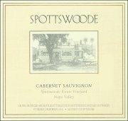 Spottswoode Napa Cabernet 1986 Rated 92WA