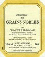 Philippe Delesvaux Coteaux du Layon Selection de Grains Nobles 2005 (France) 500ML Rated 98WS