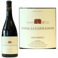 Chateau La Clotte-Fontane Coteaux du Languedoc Mathierou Red 2014 (France)