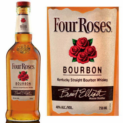 Four Roses Kentucky Straight Bourbon Whiskey 750ml
