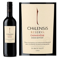 12 Bottle Case Chilensis Reserva Maule Valley Carmenere 2014 (Chile)
