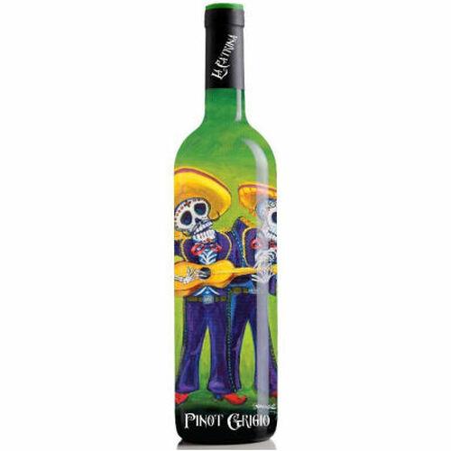 12 Bottle Case La Catrina Day of the Dead The Mariachi's California Pinot Grigio NV