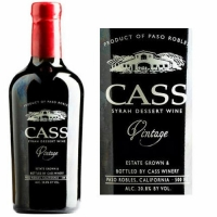 Cass Paso Robles Syrah Dessert Wine 2012 500ml