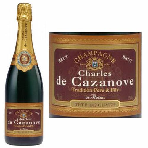 Charles de Cazanove Brut Champagne NV 375ml Half Bottle Rated 92WS