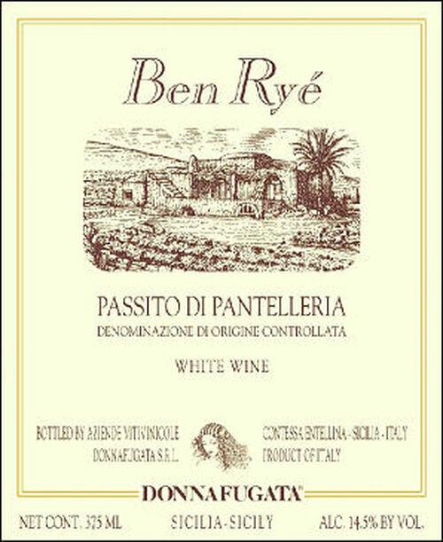 Donnafugata Ben Rye Zibibbo Passito di Pantelleria DOC 2017 375ml Half Bottle