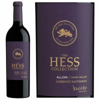 Hess Estate Allomi Vineyard Cabernet 2016 375ML Half Bottle Rated 91JS