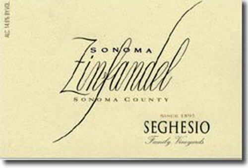 Seghesio Sonoma Zinfandel 2018 375ML Half Bottle Rated 90WE EDITORS CHOICE