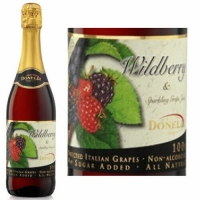 Donelli Wildberry Flavor Sparkling Grape Juice NA