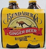 Bundaberg Ginger Beer Non-Alcoholic Beverage (Australia) 4pack 375ML