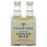 Fever Tree Ginger Beer Non-Alcoholic Beverage (Britain) 4-pack 200ml
