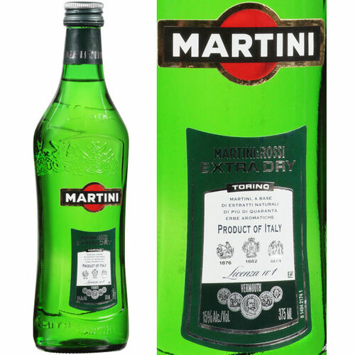 Martini & Rossi Extra Dry Vermouth 375ml Half Bottle