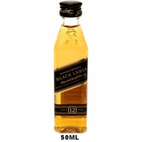 50ml Mini Johnnie Walker Black Label 12 Year Old Blended Scotch Rated 91BTI