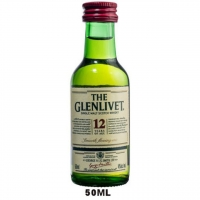 50ml Mini The Glenlivet 12 Year Old Speyside Single Malt Scotch Rated 90WE