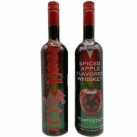 Devil Star Temptation Spiced Apple Flavored Whiskey 750ml