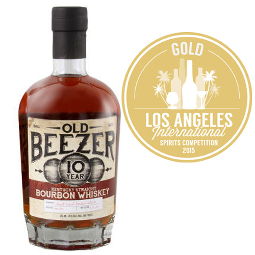 Old Beezer 10 Year Old Kentucky Straight Bourbon Whiskey 750ml GOLD MEDAL