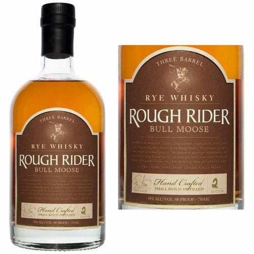 Rough Rider Bull Moose Three Barrel Rye Whisky 750ml
