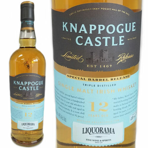 Knappogue Castle Special Barrel Release 12 Year Old Single Malt Irish Whiskey 750ml
