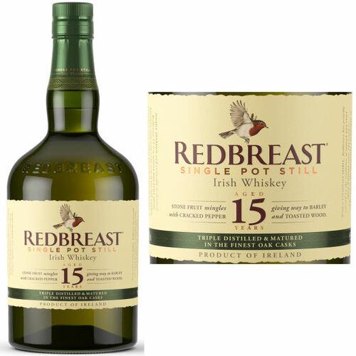 Redbreast 15 Year Old Irish Whiskey 750ml