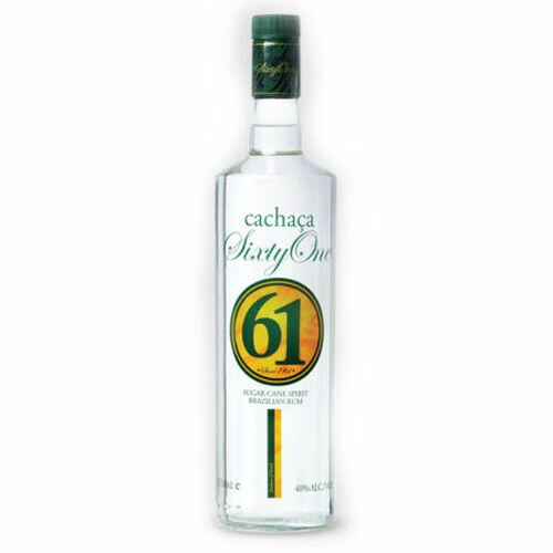Cachaca 61 Sugar Cane Spirit Brazilian Rum 1L