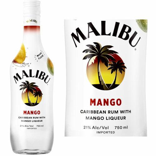 Malibu Mango Flavored Rum 750ml