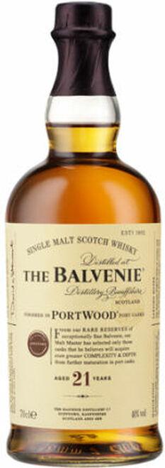Balvenie 21 Year Old Portwood Single Malt Scotch 750ml Rated 93