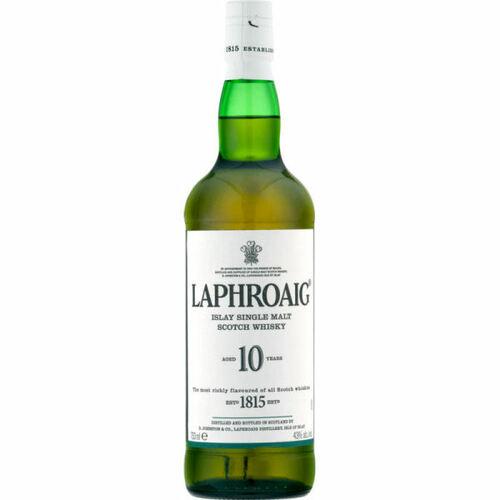 Laphroaig 10 Year Old Islay Single Malt Scotch 750ml Rated 89