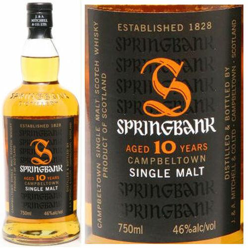Springbank 10 Year Old Campbeltown Single Malt Scotch 750ml