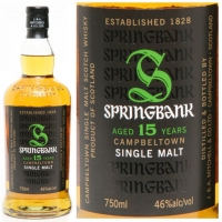 Springbank 15 Year Old Campbeltown Single Malt Scotch 750ml