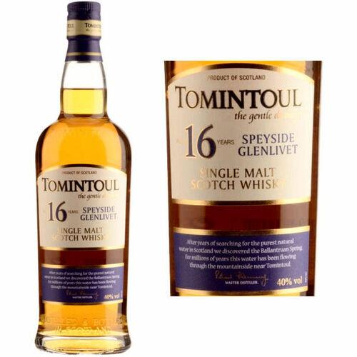 Tomintoul 16 Year Old Speyside Glenlivet Single Malt Scotch 750ml