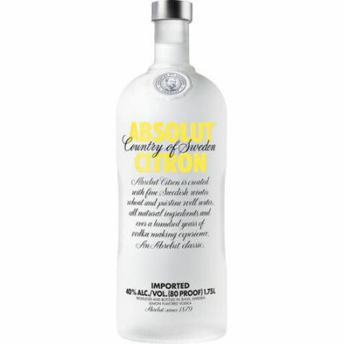 Absolut Citron Swedish Grain Vodka 1.75L Rated 90-95 BEST BUY