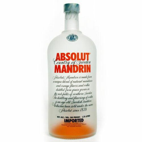 Absolut Mandrin Swedish Grain Vodka 1.75L Rated 90-95