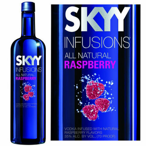 Skyy Raspberry Infusions Vodka 750ml Rated 85-89WE