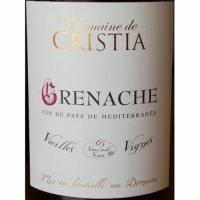 Domaine de Cristia Vin de Pays de Mediterranee Grenache Vieilles Vignes 2017