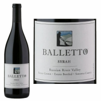 Balletto Russian River Estate Syrah 2015