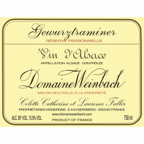 Domaine Weinbach Alsace Gewurztraminer Reserve Personnelle 2018