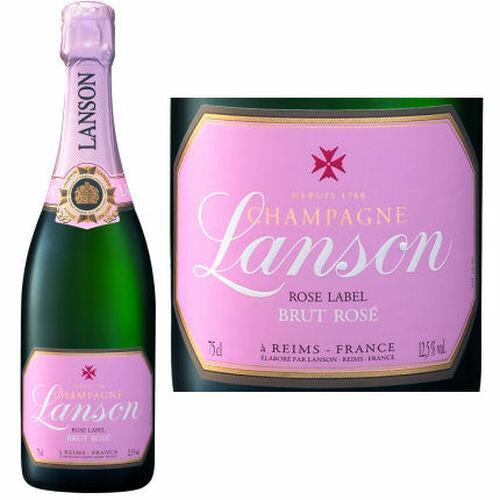 Lanson Brut Rose Champagne NV Rated 90WE